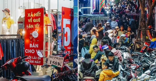 """Phố Chùa Bộc tung sale khủng, tuyên bố """"không cần lãi"""" khiến người dân chen nhau mua sắm tắc cả phố"""