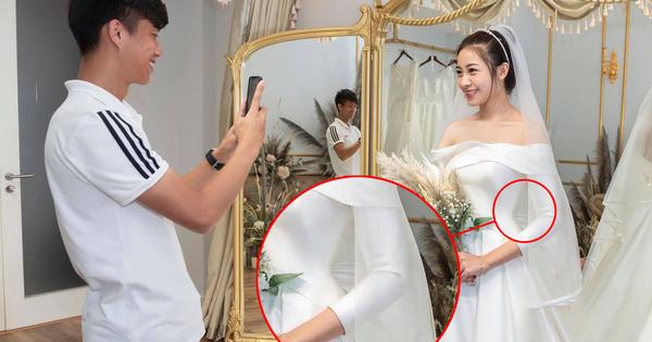 Văn Đức cuối cùng cũng đưa Nhật Linh đi thử váy cưới, bụng to đã lộ rõ mồn một
