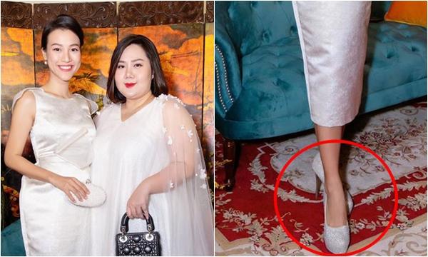 """Bầu to 5 tháng, Hoàng Oanh vẫn diện giầy cao gót ngất ngưởng, bạn thân đi cùng cũng """"hoảng"""""""