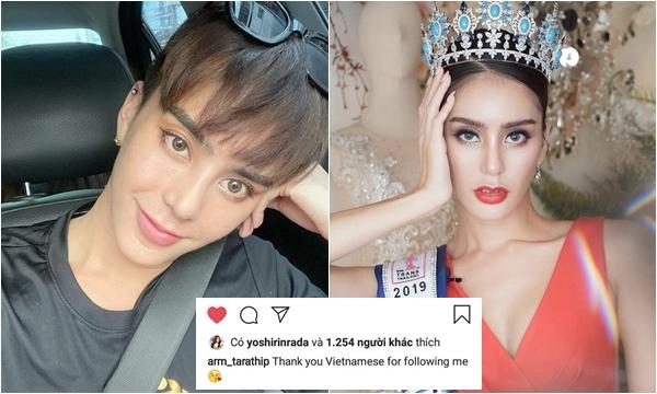 Hoa hậu chuyển giới Thái Lan bất ngờ gửi lời cảm ơn fan Việt sau khi chuyển giới lại làm đàn ông
