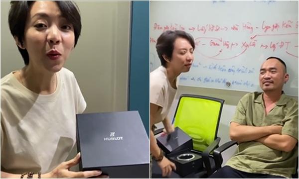 """Thu Trang tặng đồng hồ hiệu """"Húc Lót"""" cho chồng theo phong cách troll khiến Tiến Luật """"méo mặt"""""""