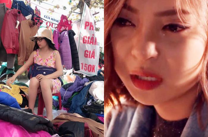 Chia tay Quang Hải, Nhật Lê phải ngồi bán quần áo hạ giá ngày 30 Tết khiến dân mạng hoang mang