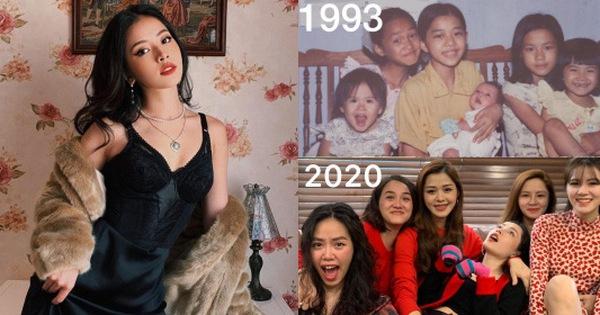 """Đầu năm mới, Chi Pu khoe ảnh cả dòng họ toàn chị em gái """"ngày ấy và bây giờ"""", nhìn ai cũng xinh xắn đến lạ"""