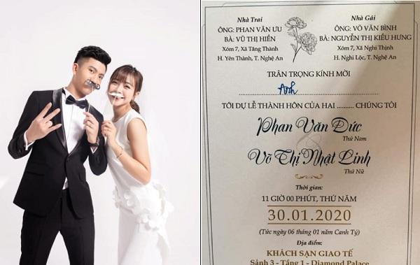 Trước lễ cưới, Nhật Linh ngọt ngào nhắn gửi tới chồng Văn Đức: Mình cùng nhau gắn bó suốt một đời anh nhé!