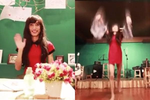 """Đầu năm mới, Lynk Lee diện đầm đỏ rực, tóc dài miên man múa """"tung trời""""?"""