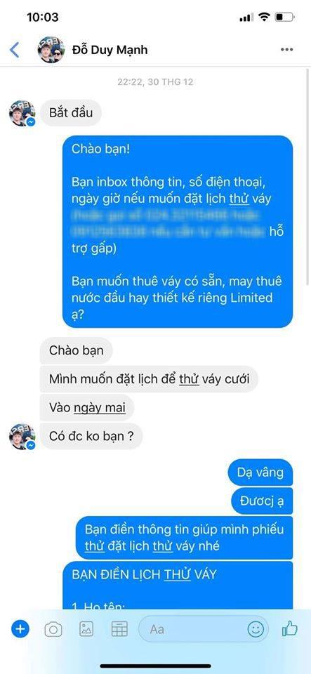 Trên đời chỉ có 1 soái ca như Duy Mạnh: Tự book lịch thử váy cưới cho Quỳnh Anh, em chỉ cần lộng lẫy, mọi việc để anh lo!