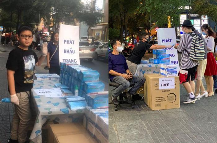 Góc nhân ái: Cậu bé 11 tuổi dành hết tiền lì xì mua khẩu trang y tế phát miễn phí cho mọi người giữa đại dịch