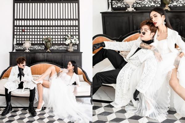 """Tung bộ ảnh """"cô dâu - chú rể"""" kỉ niệm 4 năm 6 tháng yêu nhau, phải chăng BB Trần đang âm thầm hé lộ chuyện kết hôn?"""