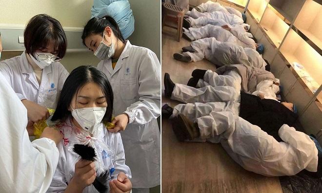 Những hình ảnh chân thực nhất về sự vất vả của y bác sĩ, nhân viên y tế tại ổ dịch Corona Vũ Hán