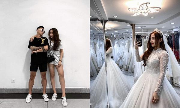 """Tạm quên scandal """"7 sừng"""", Kiều Anh giờ đã là """"vợ sắp cưới của người ta"""" khi tung ảnh mặc váy cưới, sắp lên xe hoa"""