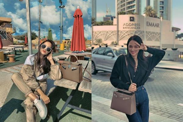 Đã tìm ra chiếc túi khiến Hương Giang mê mẩn đến mức đeo từ giao thừa đến du xuân Dubai