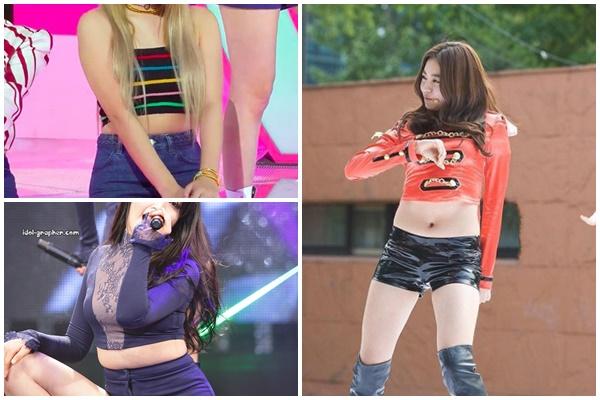 Đứng ngồi không yên vì thói quen mặc áo croptop bị lộ bụng mỡ của mỹ nhân Hàn