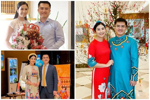 Một loạt ảnh cực hiếm hoi của hoa hậu Ngọc Hân và chồng sắp cưới đang được cộng đồng mạng hết sức quan tâm