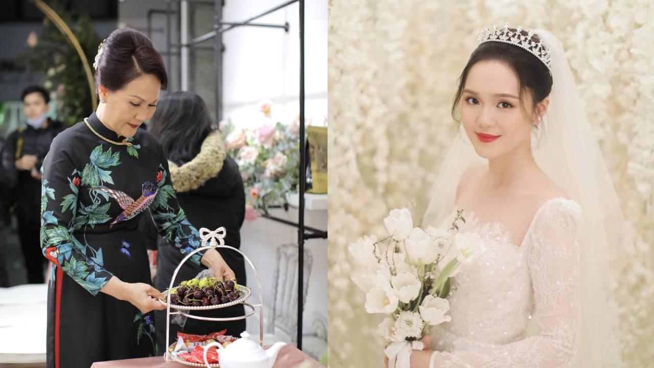 """Dân tình """"khen hết lời"""" vẻ đẹp quý phái của mẹ vợ Duy Mạnh: Bảo sao cô dâu xinh đến thế!"""