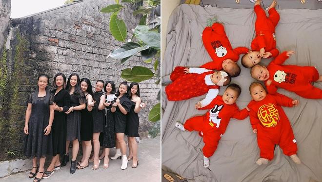 """Nhà có 7 chị em gái, 5 cô sinh con cùng một năm: """"Dân số gia đình cứ ngày một tăng"""""""