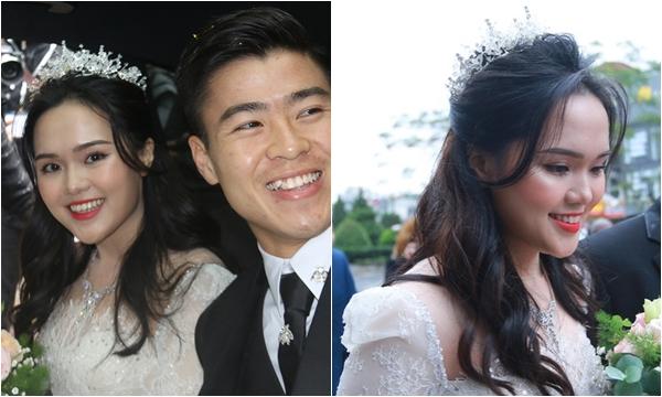 """Soi kĩ lại nhan sắc cô dâu Quỳnh Anh qua loạt ảnh chụp cam thường và """"team qua đường"""", đúng là khác hẳn hôm ăn hỏi"""