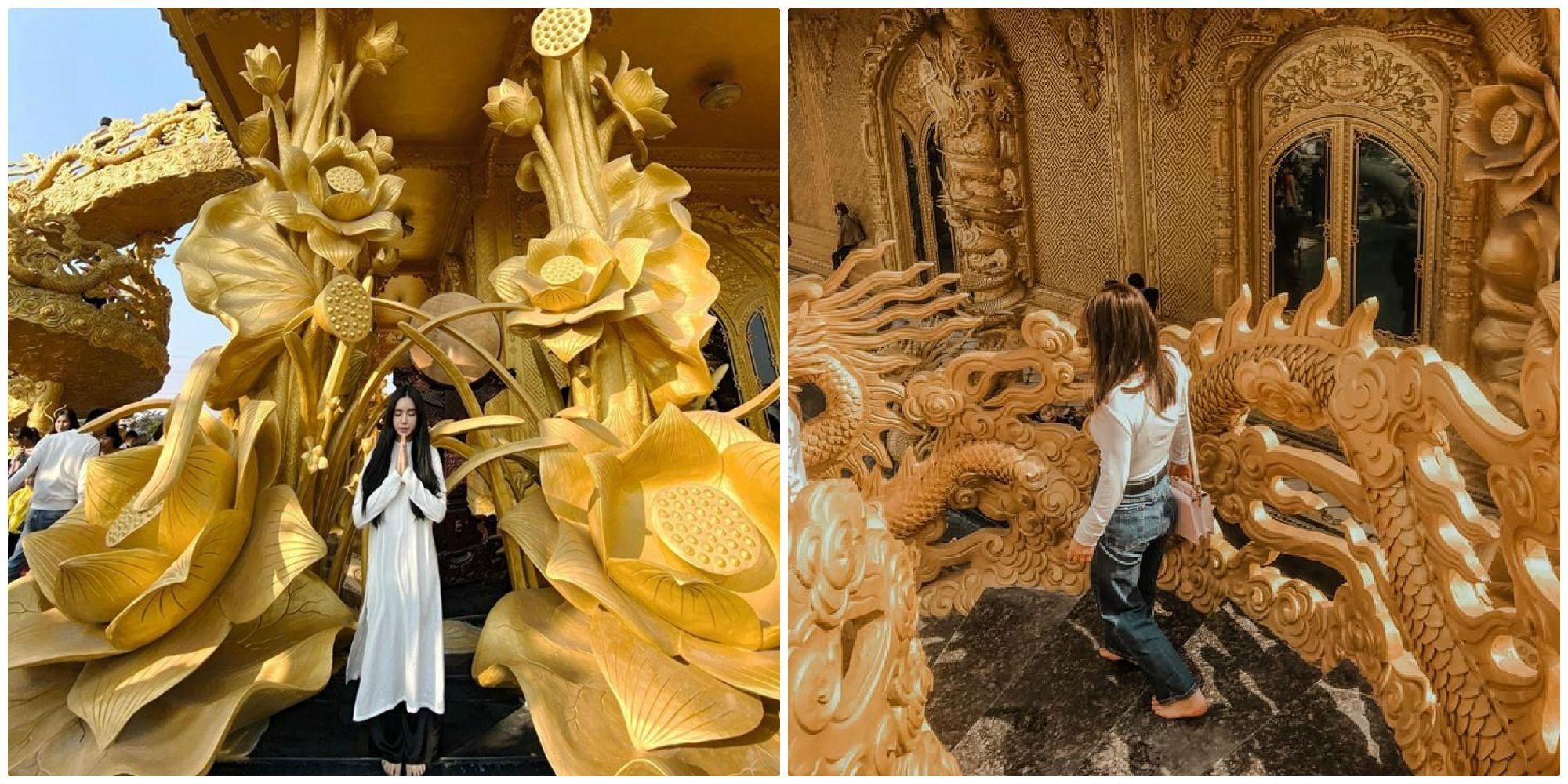"""Phát sốt trước ngôi chùa """"dát vàng"""" được mệnh danh là """"Thái Lan thu nhỏ"""" sát xịt Hà Nội"""