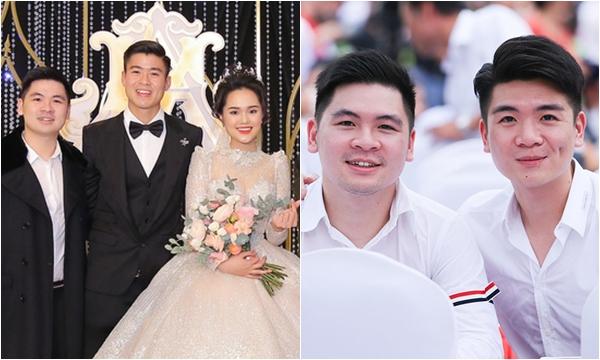 """2 thiếu gia nhà bầu Hiển cùng dự đám cưới Quỳnh Anh - Duy Mạnh, cả nhan sắc lẫn khí chất đều toát lên vẻ """"chủ tịch"""""""