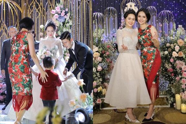 """Lộ bức ảnh Quỳnh Anh và chị gái vợ Văn Quyết cùng """"đọ sắc"""" trong đám cưới: Chị em """"một 9 một 10"""" chẳng ai kém cạnh"""