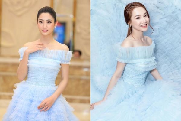 Chênh lệch tuổi tác và chiều cao, Lương Thuỳ Linh vẫn chẳng hề lép vế đàn chị Nhã Phương khi đụng độ váy công chúa