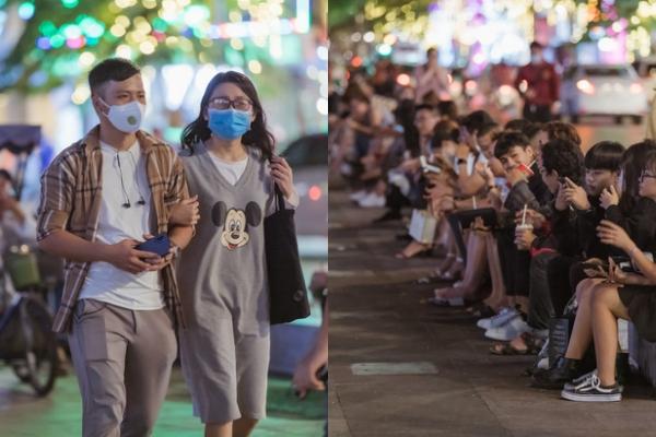 Ngại gì dịch bệnh, giới trẻ Sài Thành rủ nhau tụ họp đông kín trên phố đi bộ Nguyễn Huệ ngày cuối tuần