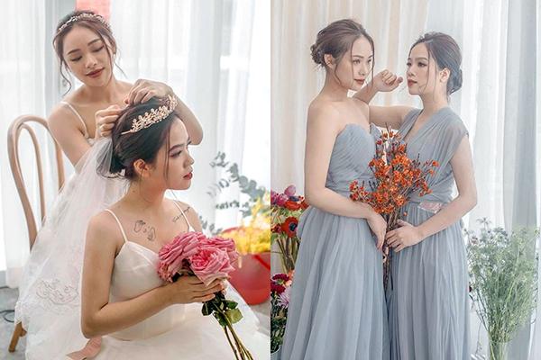 """Bạn gái tin đồn của Quang Hải khoe ảnh cưới với bạn thân, dân mạng xôn xao liệu có công khai """"tình yêu đồng giới"""""""