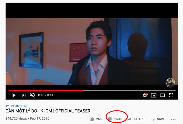 K-ICM vừa tung teaser đã lên Top 1 Trending, nhưng lượng dislike gấp 10 lần like chỉ vì Jack