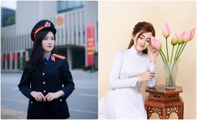 Sắp ra trường, nữ sinh ĐH Kiểm sát Hà Nội lưu luyến trường với bộ ảnh xuất thần cùng đồng phục ngành