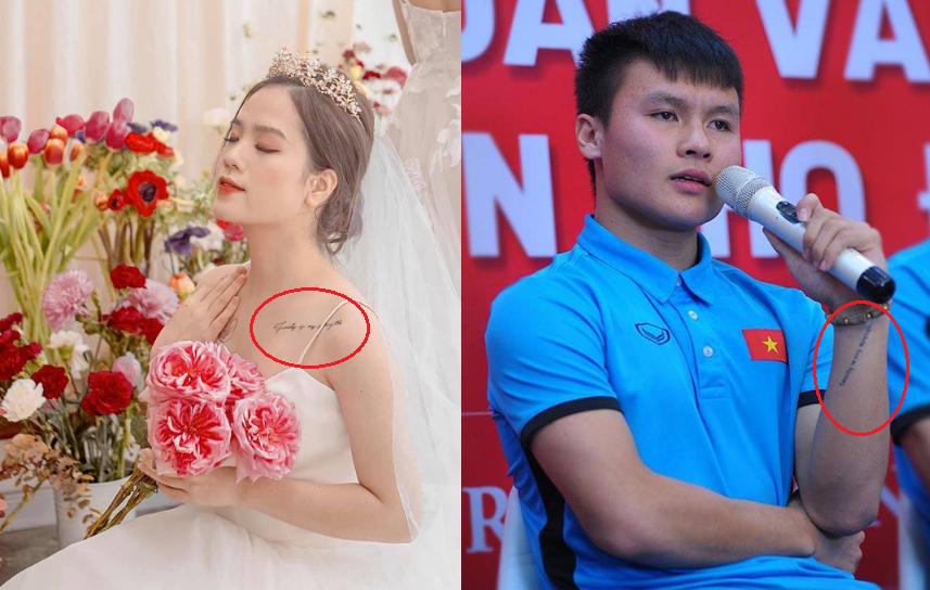 Góc trùng hợp: Quang Hải và Huyền My có hình xăm giống nhau từ thời chưa quen biết, duyên phận là đây chứ đâu!