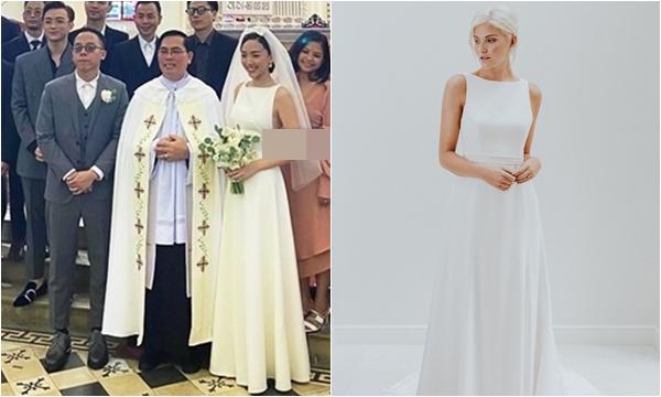 """Giấu váy cưới siêu kỹ nhưng các """"thánh soi"""" vẫn tìm ra thiết kế Tóc Tiên đã chọn, ngó giá cũng không """"đơn giản"""" một chút nào"""