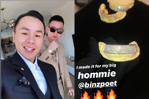 Chiếm hết spotlight đám cưới Tóc Tiên, Binz trở thành tâm điểm chú ý khi khoe hàm răng kim cương tiền tỷ