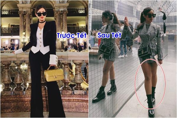 Là mỹ nhân sexy, em chồng Hà Tăng lại bị soi chân ngắn ngủn, thân hình mũm mĩm trong loạt hình mới