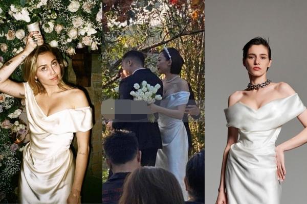 """Hoá ra váy cưới của Tóc Tiên từng là mẫu thiết kế của Miley Cyrus, dàn phụ kiện """"sương sương"""" cũng gần nửa tỷ đồng"""