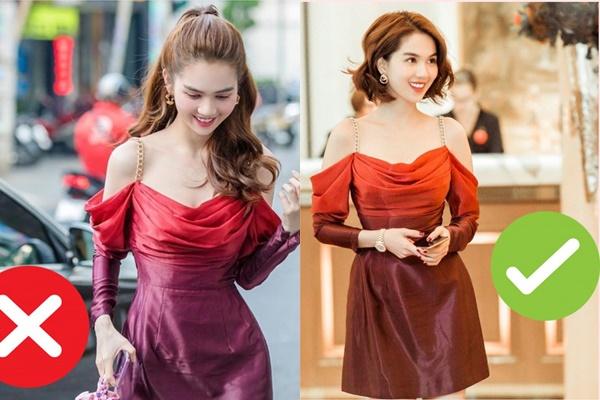 """Chỉ vì không photoshop mà váy Ngọc Trinh từ hàng hiệu biến thành """"hàng chợ"""" trong một nốt nhạc"""