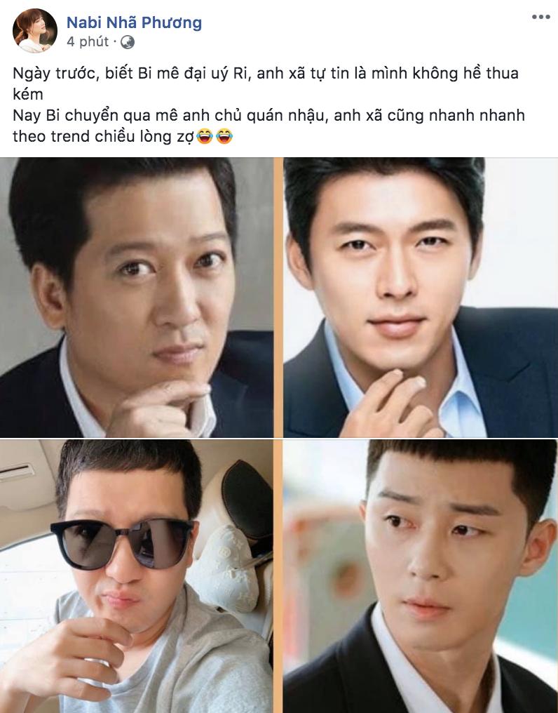 """Trường Giang đu trend cắt tóc mái ngố giống nam thần """"Itaewon Class"""" để chiều sở thích mê trai Hàn của vợ"""