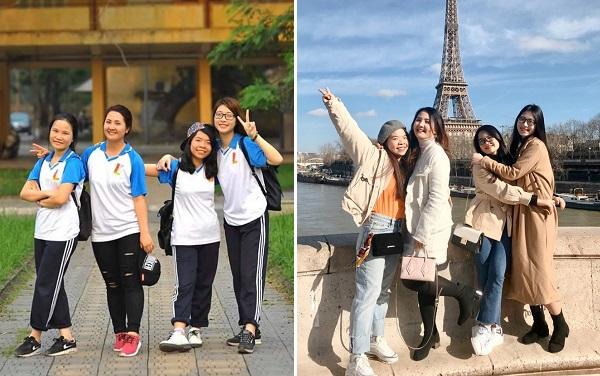 Ngưỡng mộ hội bạn thân 5 năm trước cùng học Bách khoa, 5 năm sau cùng du học Pháp