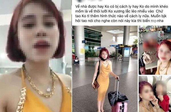 """Vừa từ """"ổ dịch"""" về Việt Nam, gái xinh tự hào livestream khoe chiến tích lẩn trốn: Người không thông minh mới bị cách ly"""""""
