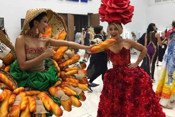 Chia sẻ lại hình ảnh trang phục Bánh Mì tại Miss Universe 2018, H-Hen Niê đáp trả khéo léo anti-fans ngày nào