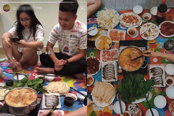 Quang Hải - Nhật Lê tụ tập ăn lẩu cùng bạn bè, làm lễ ra mắt nhân sự kiện tái hợp?