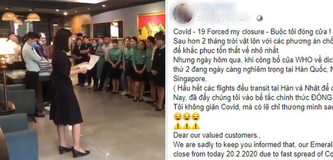 """Khách sạn lỗ hơn 20 tỷ đồng, nữ quản lý khóc công bố quyết định cho nhân viên nghỉ: """"Covid-19 buộc tôi đóng cửa"""""""