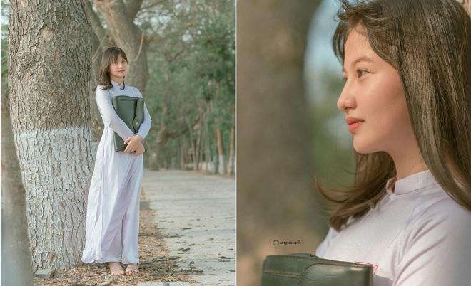 """Nữ sinh An Giang """"gây thương nhớ"""" với bộ ảnh áo dài trắng mang đậm vẻ đẹp học đường ngày xưa"""