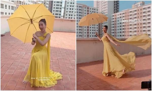 Niềm đam mê màu vàng của Đỗ Mỹ Linh trong set đồ mới khiến CĐM phải phì cười