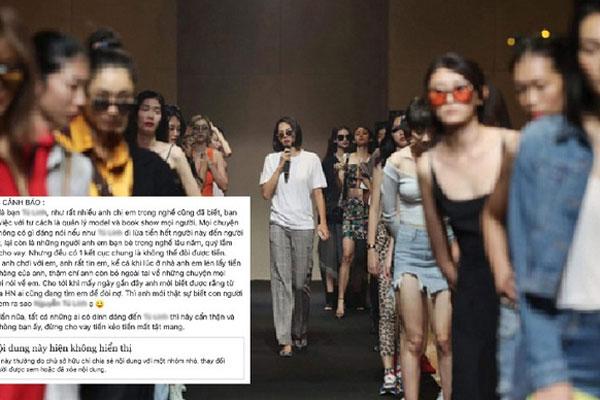 Một bầu show nổi tiếng bị tố  ăn quỵt tiền của người mẫu đến hàng trăm triệu đồng