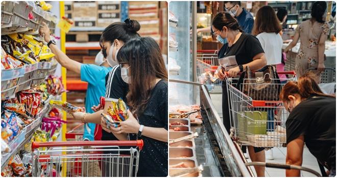 """Sau thời gian ngắn """"vỡ trận"""" do Covid-19 bùng phát, hệ thống siêu thị, cửa hàng bán lẻ tại Hà Nội đầy ắp hàng hóa trở lại"""