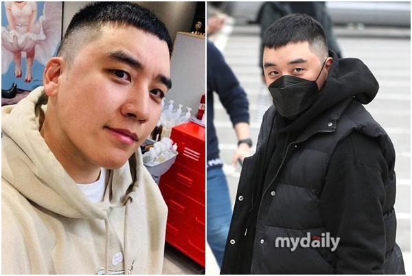 """Seungri bất ngờ cắt tóc """"hạt dẻ"""" giống nam chính """"Itaewon Class"""", đeo khẩu trang lên đường nhập ngũ trong im lặng"""
