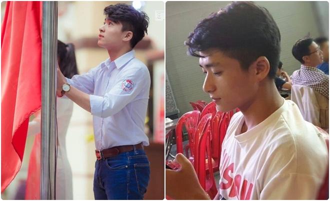 """""""Hot boy kéo cờ"""" trường Lê Quý Đôn khiến hội chị em tìm ra động lực học tập giữa mùa dịch Covid-19"""