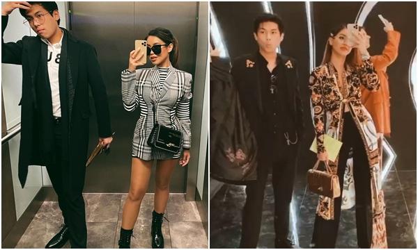 Em trai Tiên Nguyễn gây lo lắng khi là người hộ tống chị gái đi các show ở cả Ý và Pháp