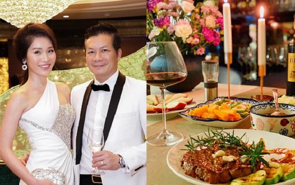 """Shark Hưng tự tay nấu bữa ăn sang chảnh như nhà hàng 5 sao cho bà xã khiến chị em """"phát hờn"""""""