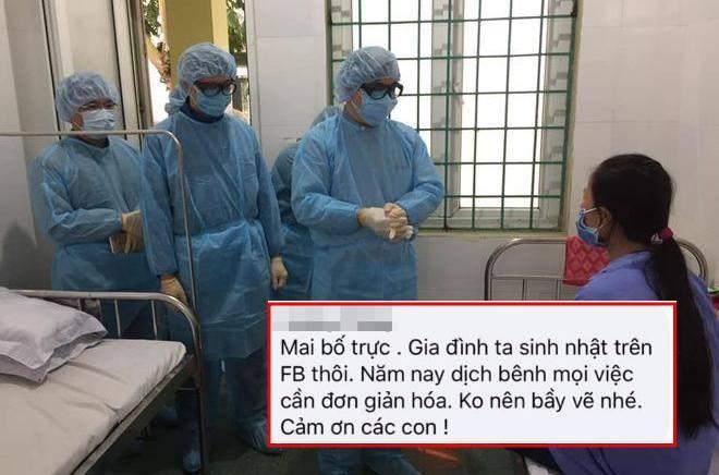 Bác sĩ không thể về nhà trong ngày sinh nhật vì trực chống dịch: Năm nay nhà mình sinh nhật trên FB thôi!