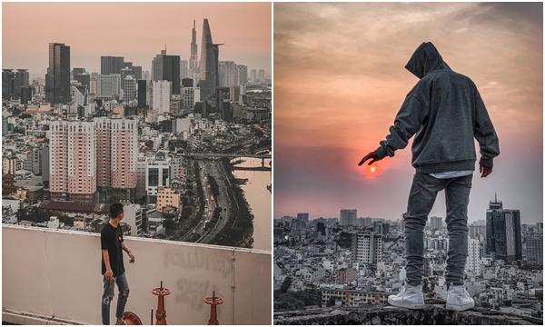 """Đam mê """"leo nóc nhà"""", chàng trai 9x chinh phục loạt cao ốc đẹp nhất Sài Gòn chỉ trong 4 tháng"""